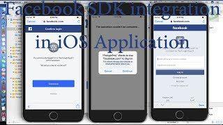 iOS app login with Facebook Swift 4 Xcode 9 Facebook SDK
