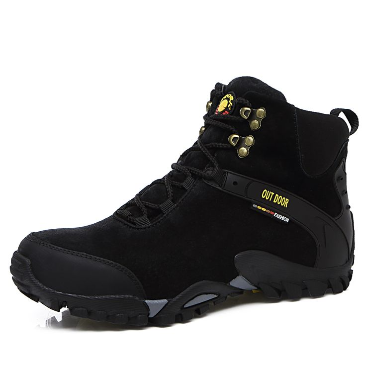 2017 New Autumn Winter Outdoor Sport Shoes Men Thermal Mountain Boots High Top Camping & Hiking Sneakers Fur Warm Rock Climbing