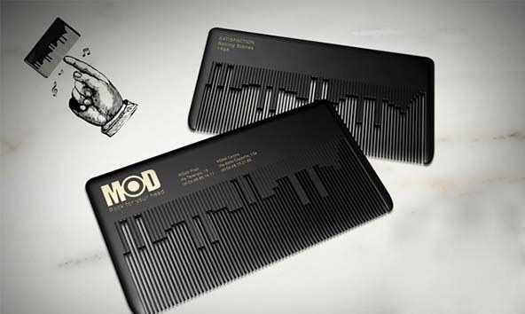 Musical Comb Businesscard. / MODhair Salons. Визитка парикмахерской (02) ••• #Business #Cards