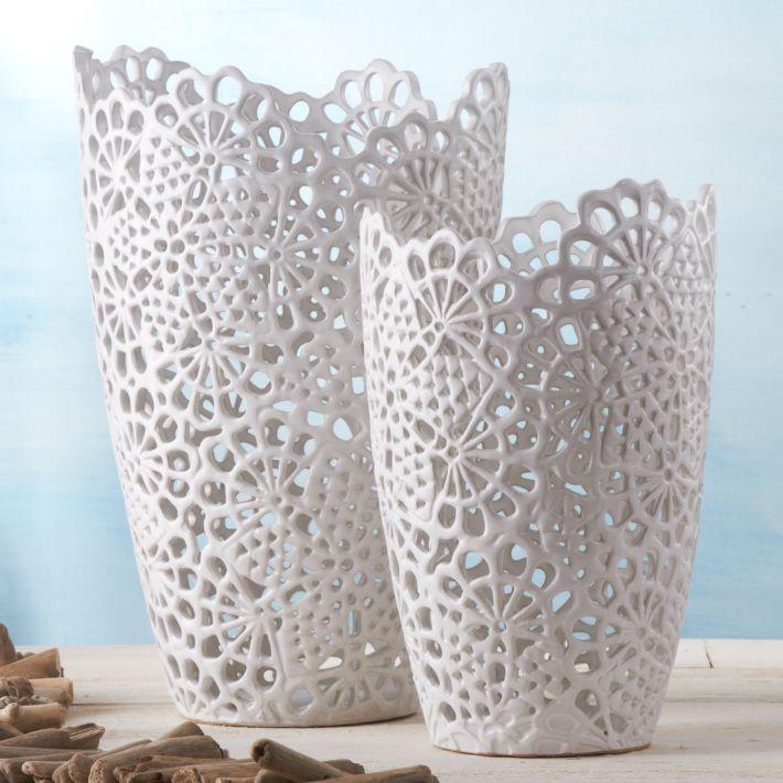 Vase A Decor Dentelle Paris