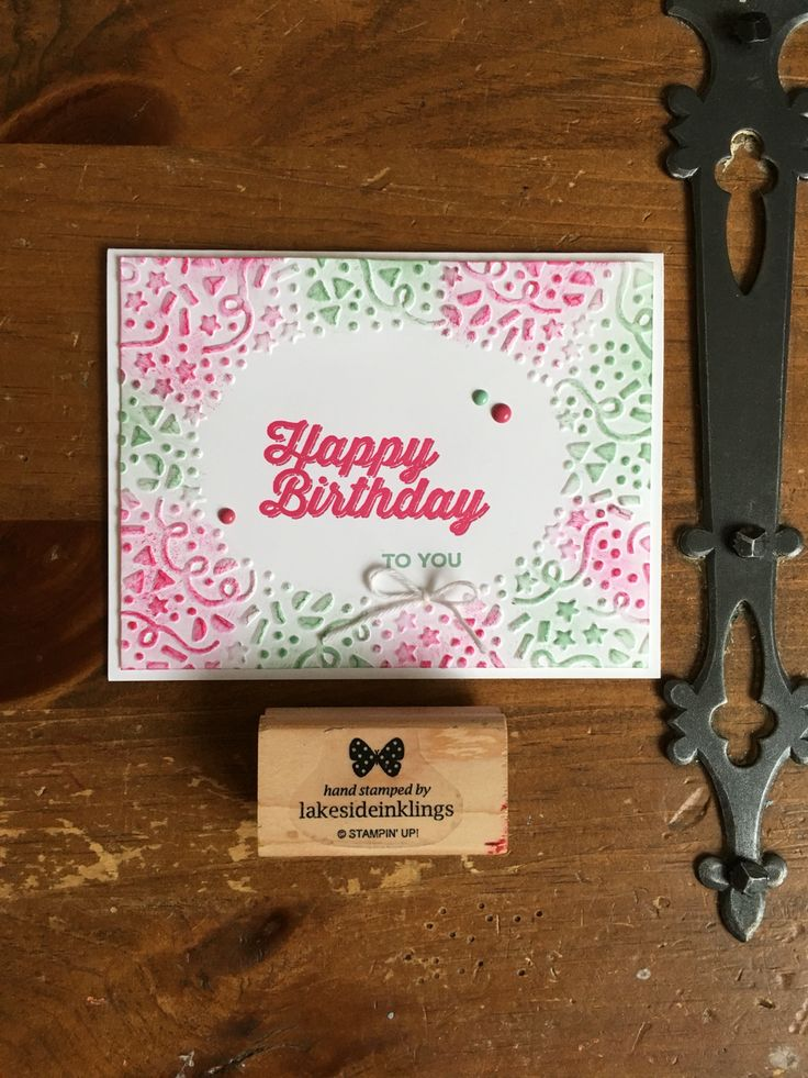 Stampin' Up! Occasions catalogue 2016 and sab 2016, perfect pairings, confetti textured embossing folder, it's my party enamel dots www.lakesideinklings.stampinup.net
