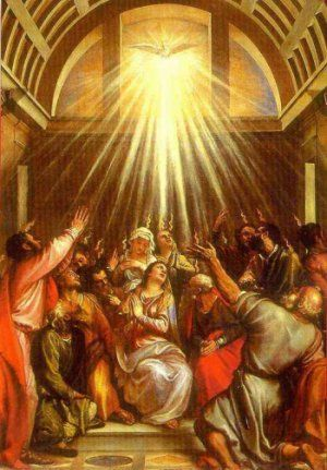 Image result for pentecost, action bible