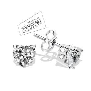Beautiful sterling silver earrings  dipped in rhodium made with Swarovski Crystals would make any women look fabulous - 925 hallmark the finest quality brand