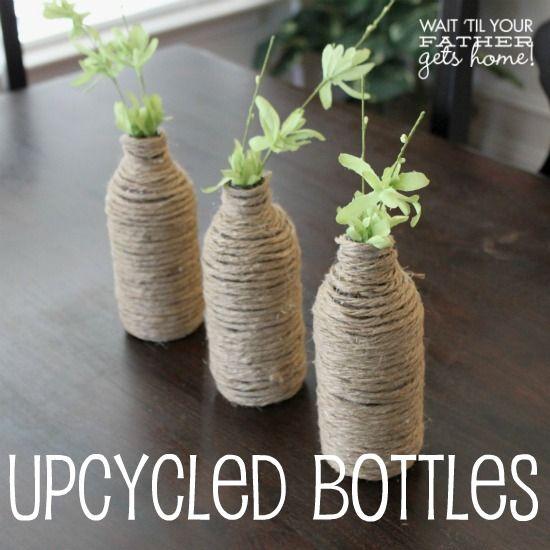 Upcycled Bottle Decor and mantels