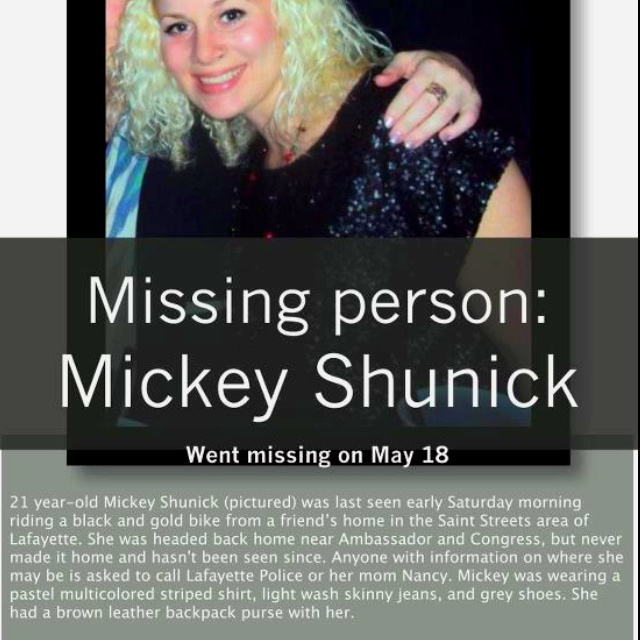 Missing Girl  Missing Person Words