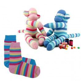 Animaux en chaussettes - Singes chaussettes amoureux