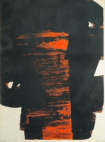 Pierre Soulages, Lithographie N°26 - Love his work and it is perfect for lithography. S