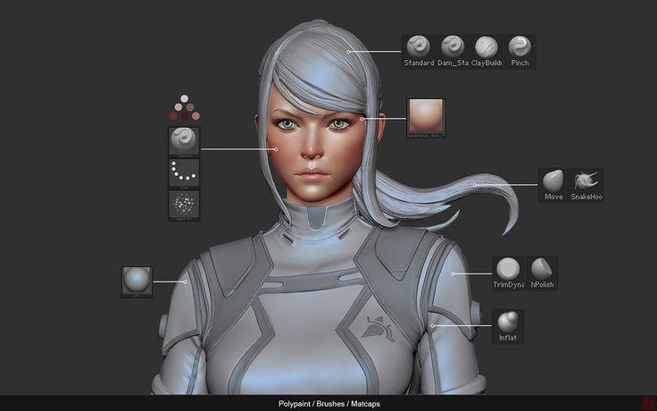 // The making of Zero Suit Samus by Allan Lee / KeyShot, Maya, Photoshop, ZBrush, tutorial from 3dtotal.com