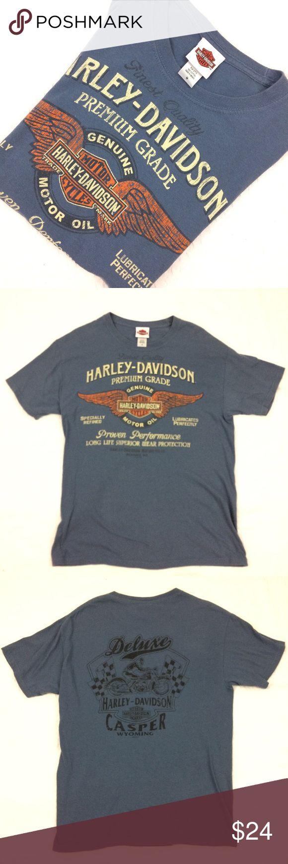 Harley Davidson Casper Wyoming Tshirt This is a gently used Harley Davidson Tshirt Casper Wyoming. Mens sz M in Gray Blue color Harley-Davidson Shirts Tees - Short Sleeve