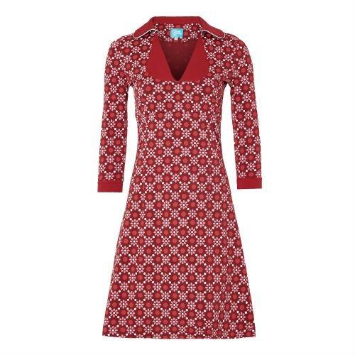 Tante Betsy jurk 'Mimi' rood