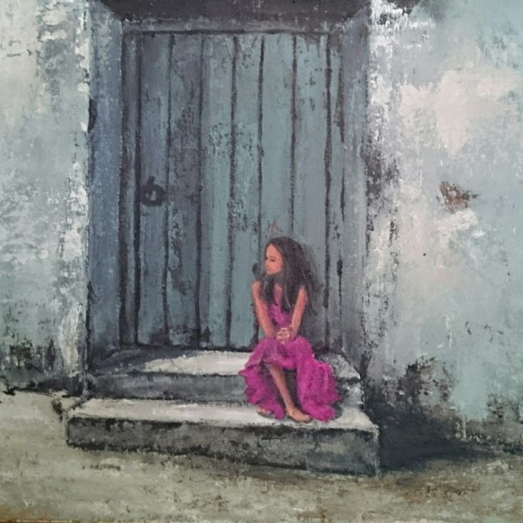 Waiting - Painting by Herma Kitching