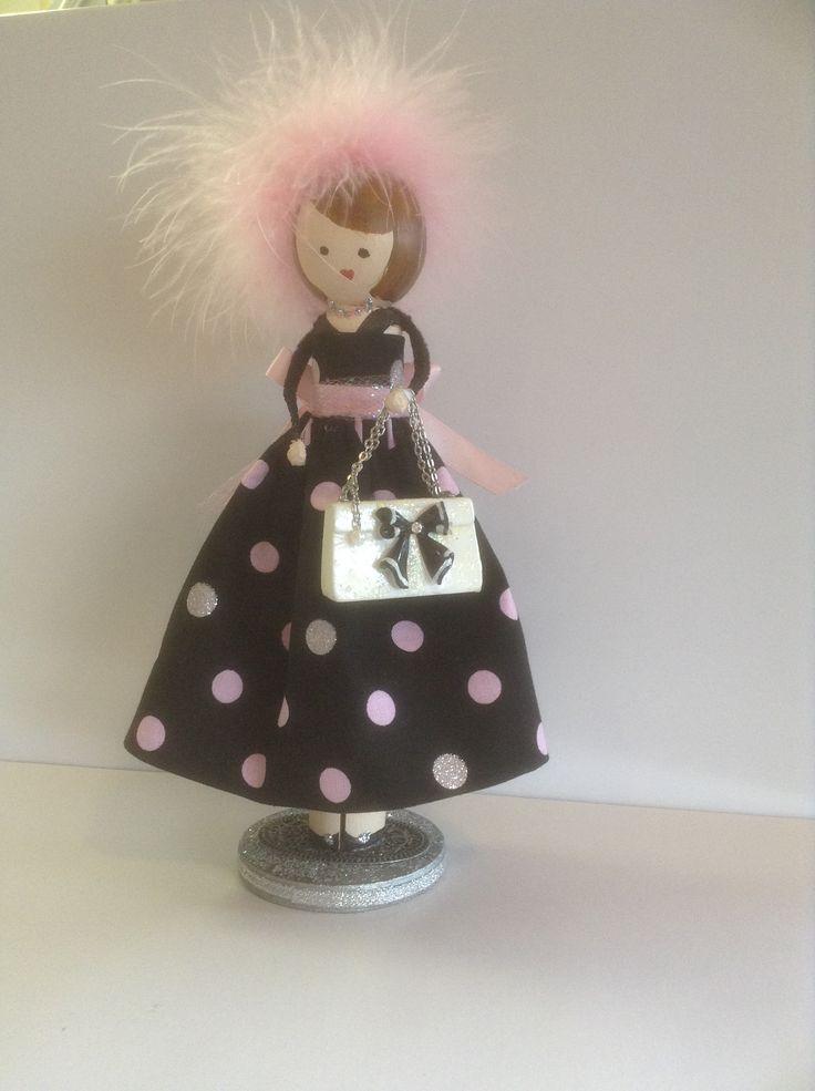 Lady Trina clothespin doll