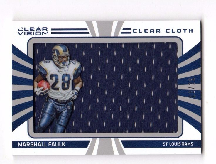 2016 Clear Vision Clear Cloth #28 Marshall Faulk HOF Rams Jersey 12/25