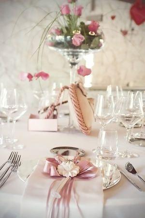 decorazione tavolo rosa Fontana Liri (FR) : Partecipazioni - Creazioni Roberta