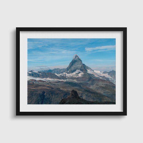 Switzerland Mountains Matterhorn Mountain In Zermatt Etsy Switzerland Mountains Matterhorn Matterhorn Mountain