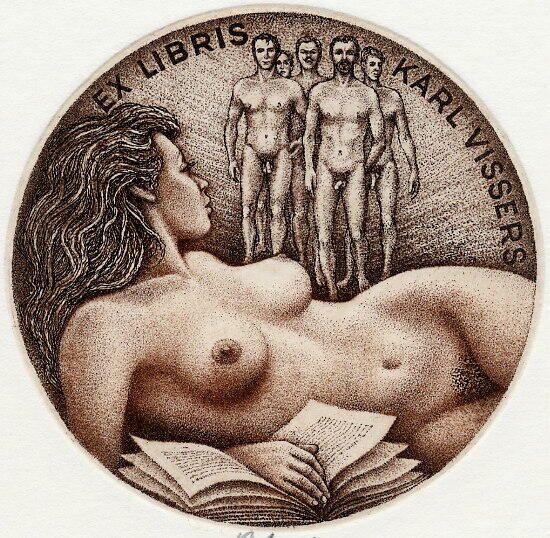Erotic ex libris alphonse inoue 1