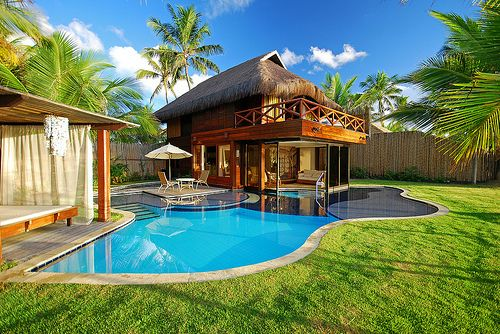 Love the pool houseSwimming Pools, Beach Resorts, Small Backyards, Pools House,  Terraces, Dreams House, Patios, Pools Design, Small Yards