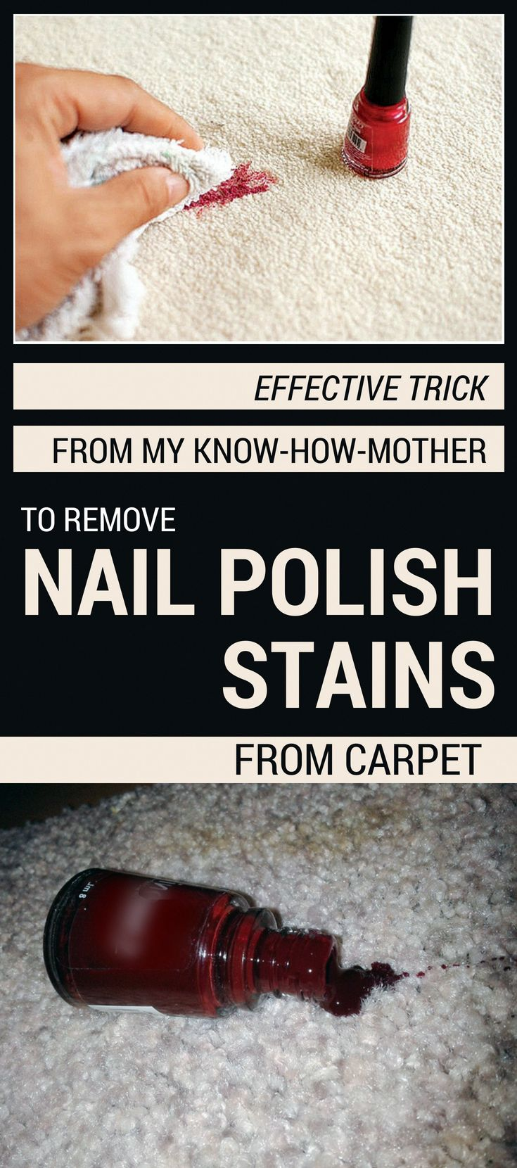 Effective trick from my knowhowmother to remove nail