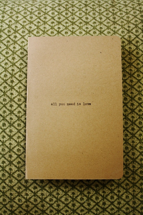 Typewriter all you need is love Kraft Invitations by kendradolson, $300.00