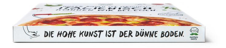 """Read more: https://www.luerzersarchive.com/en/magazine/print-detail/franco-fresco-gmbh-65184.html Franco Fresco GmbH The talking pizza boxes – these cartons have a lot to say. """"We only use mozzarella. Everything else is cheesy."""" """"Best before this date. Just in case you'll resist that long."""" """"The high art of a thin base."""" """"Big in taste. Big on plate."""" """"Our most prestigious ingredient: Quality."""" Tags: Leagas Delaney, Hamburg,Jan Wölfel,Markus Heumann,Michael Götz,Daniel Patterson,Sebastian…"""