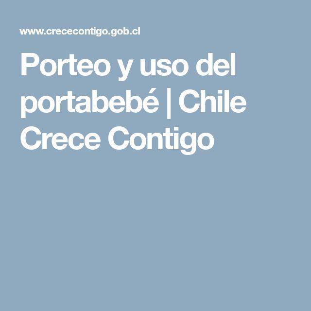 Porteo y uso del portabebé | Chile Crece Contigo