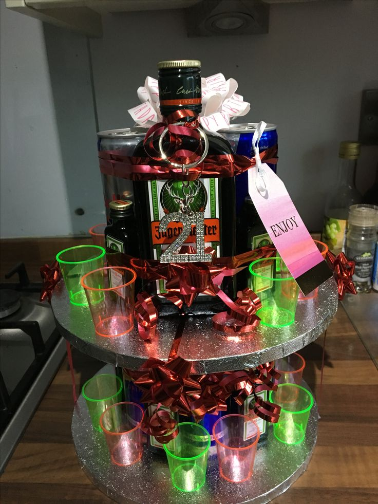 Jagermiester 21st cake alcohol gift