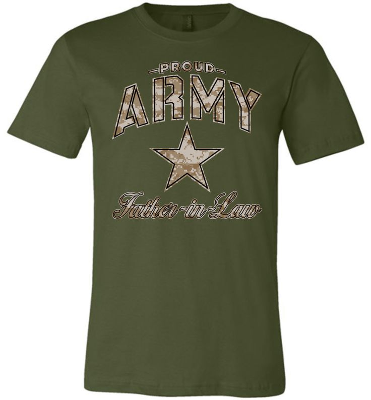 Proud Army Father-in-Law Camo Unisex T-Shirt