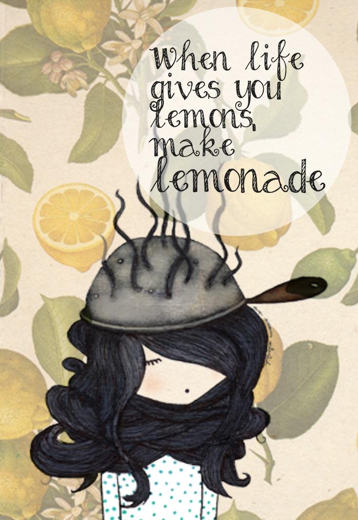When life gives you lemons, make lemonade!!  Illustration by Eva Escoms Estarlich