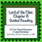 lord of the flies chapter 8 guided reading simple sub plans and worksheets. Black Bedroom Furniture Sets. Home Design Ideas