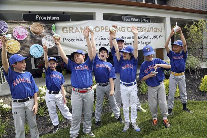 Andover Town Market in Massachusetts held a grand-opening celebration June 4 that doubled as an ice cream fund-raiser for the local Little League. The event attracted more than 700 Little Leaguers and raised about $2,000.