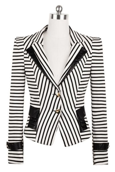 elegant striped blazer