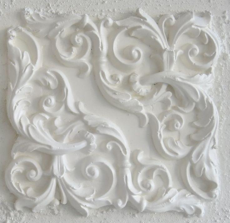 Curled vine in matt white by bellaartista designs