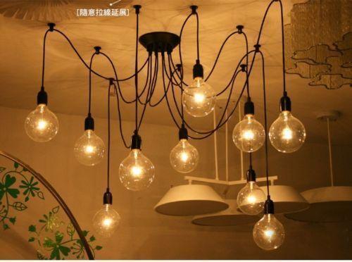 Practiacal Edison Starlight Ceiling Chandelier DIY Hanging Lamp Indoors Light   eBay