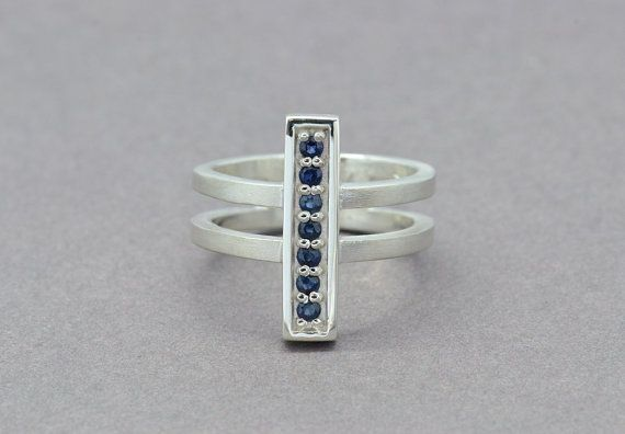 Sterling Silver Bar Ring Long Line Ring by SuttonSmithworks