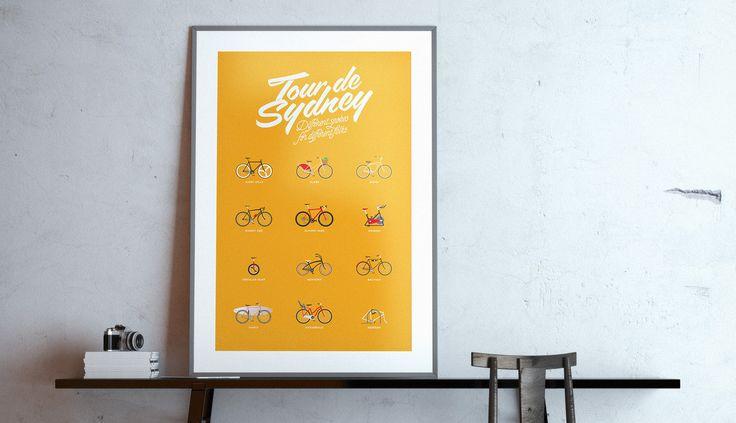 Tour de Sydney poster by Hoyne Design