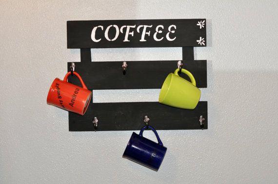 supporto di tazza di caffè cremagliera tazza di ReclaimedOregon