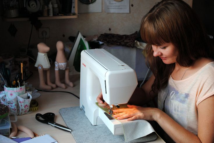I sew in my studio toys:)