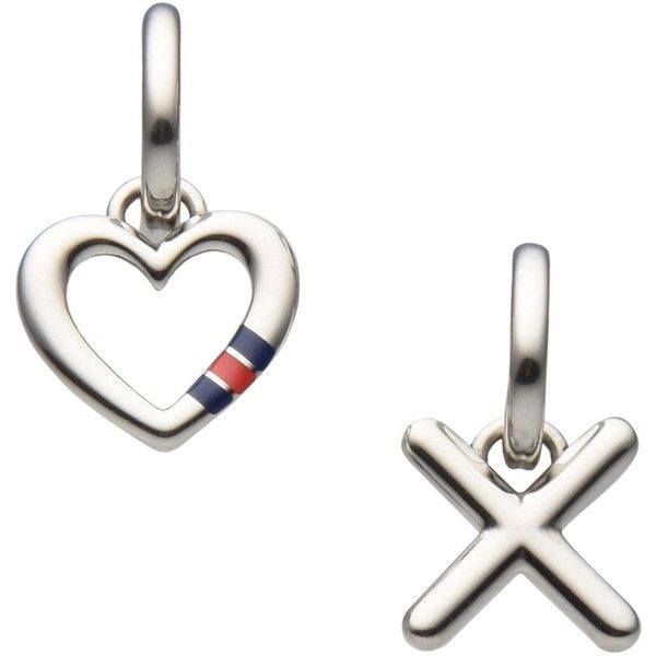 Tommy Hilfiger Earrings ($105) ❤ liked on Polyvore featuring jewelry, earrings, silver, tommy hilfiger, earring jewelry, stainless steel earrings, stainless steel jewelry and stainless steel jewellery