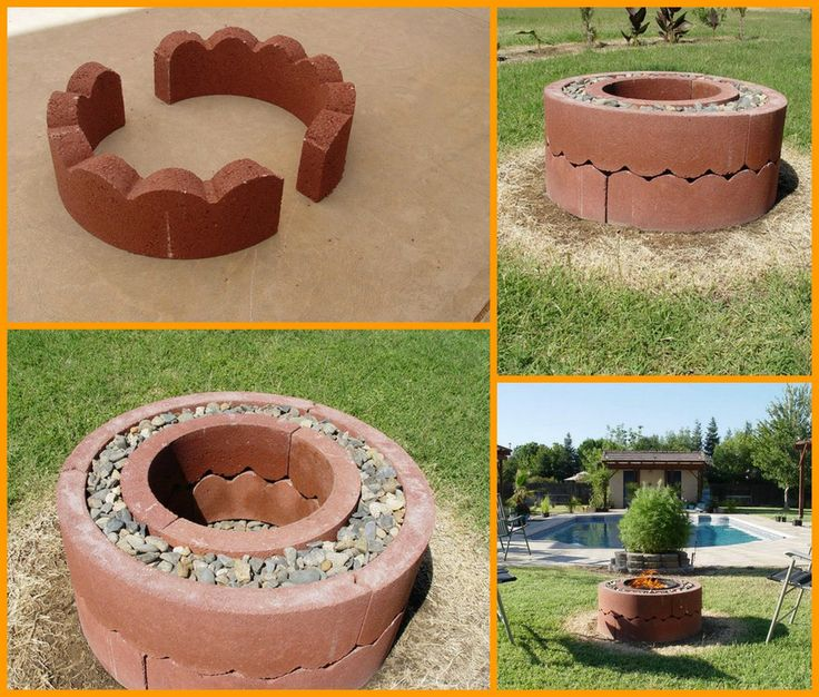 75 best images about fireplaces fire pits on pinterest for Build my own fire pit