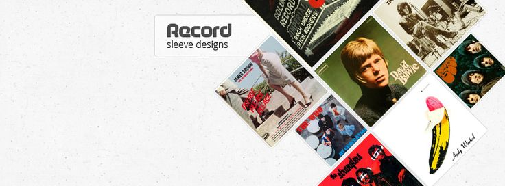 Facebook timeline design  for Record Sleeve design page, featuring the best of the best Record Cover Designs