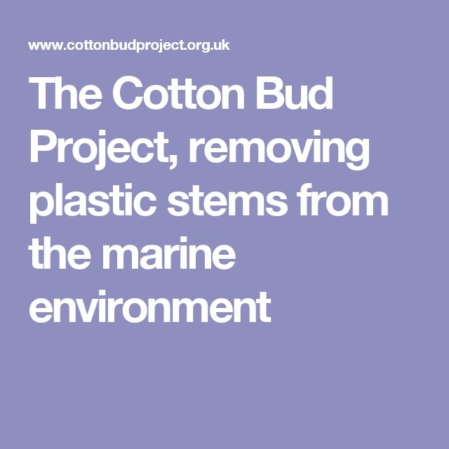 The Cotton Bud Project, removing plastic stems from the marine environment