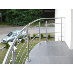 Balustrada nierdzewna gięta. #balustrady #balkon #schody #poręcz #rybnik #elementy #balustrad #inox #montaż #balustrad #Avis