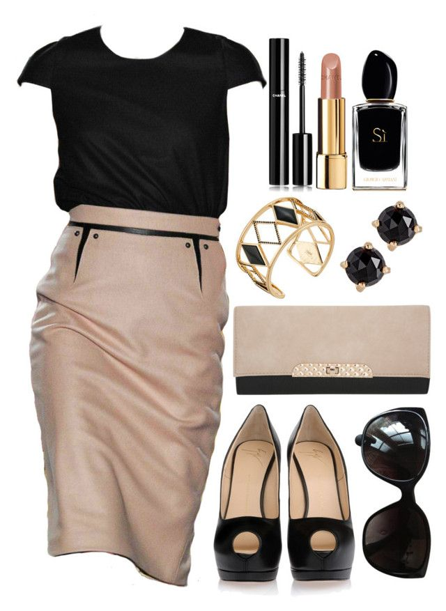 """Untitled #4144"" by natalyasidunova ❤ liked on Polyvore featuring Giuseppe Zanotti, Miss Selfridge, Chanel, Rebecca Minkoff, Irene Neuwirth and Giorgio Armani"