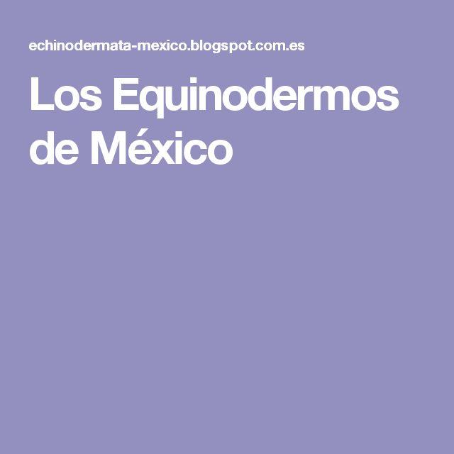 Los Equinodermos de México