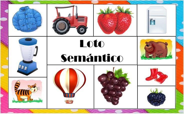 Categorías semánticas  Frutas Animales  Medios de transporte  Prendas de vestir  Elementos de la cocina