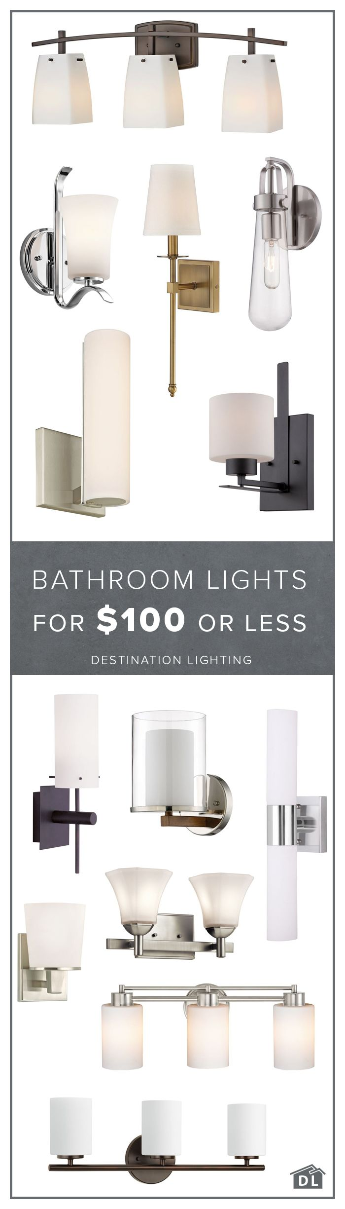 Bathroom Fixtures For Less best 25+ bathroom lighting fixtures ideas on pinterest | shower