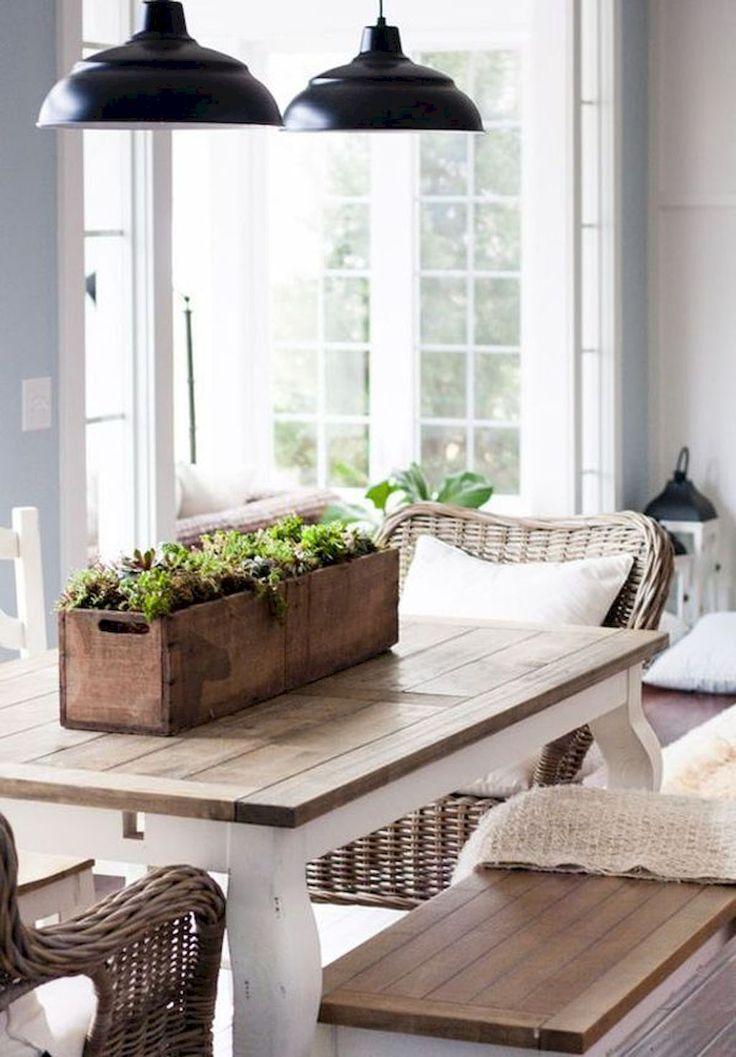 80 Lasting Modern Farmhouse Dining Room Decor