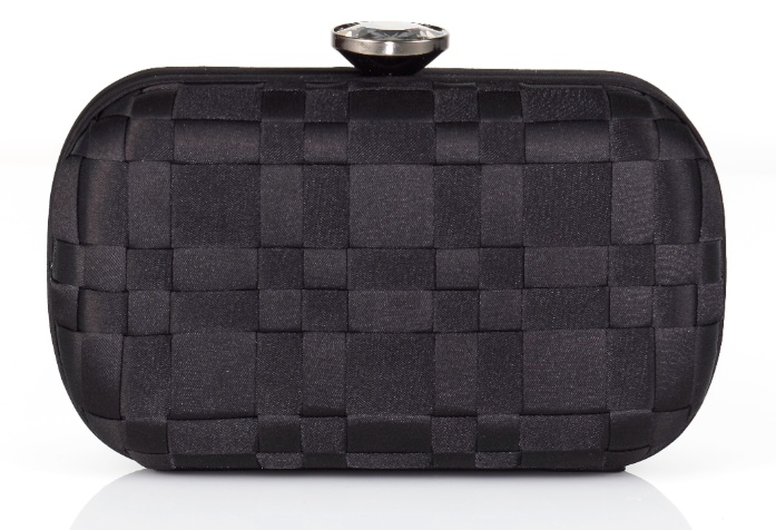 Our simple black clutch is the perfect blend between masculine lines and feminine finishes.