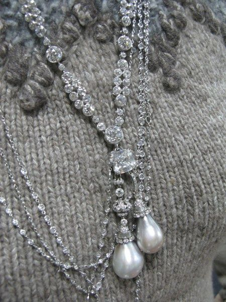 South Sea Pearls and Diamond necklace Cartier 1900