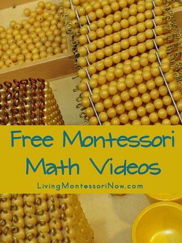 Free Montessori Math Videos @Karissa Scott Scott Scott Barber @leeann b b Allen Scott